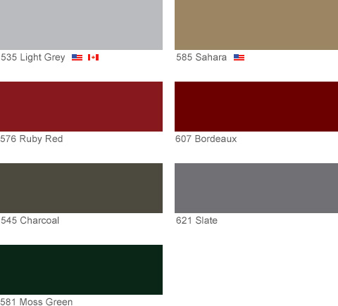 Colors - Hadrian Manufacturing Inc  toilet partitions and