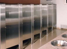 Privacy Options Hadrian Manufacturing Inc Toilet Partitions And - Stainless steel bathroom partitions
