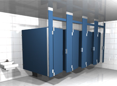 Mounting options hadrian manufacturing inc toilet partitions and lockers - Hadrian partition hardware ...