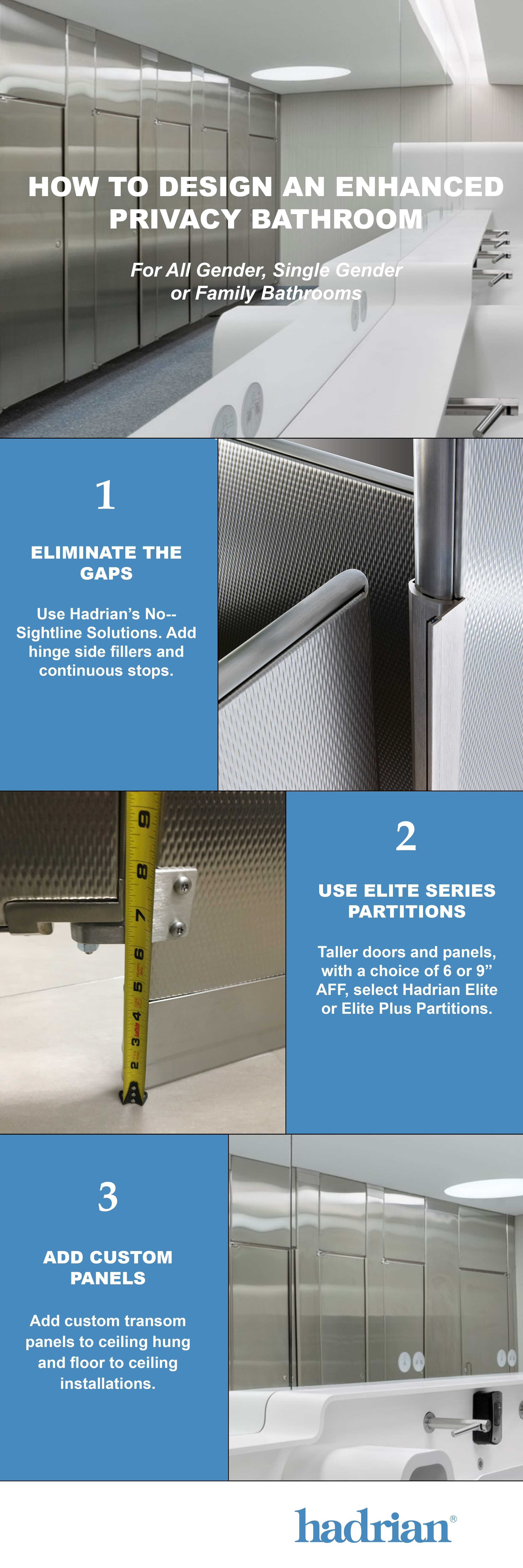 Hadrians Three Steps To Ultimate Bathroom Privacy Hadrian - Bathroom privacy partitions