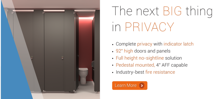 Hadrian Elite Max toilet partition - Taking enhanced privacy to new heights